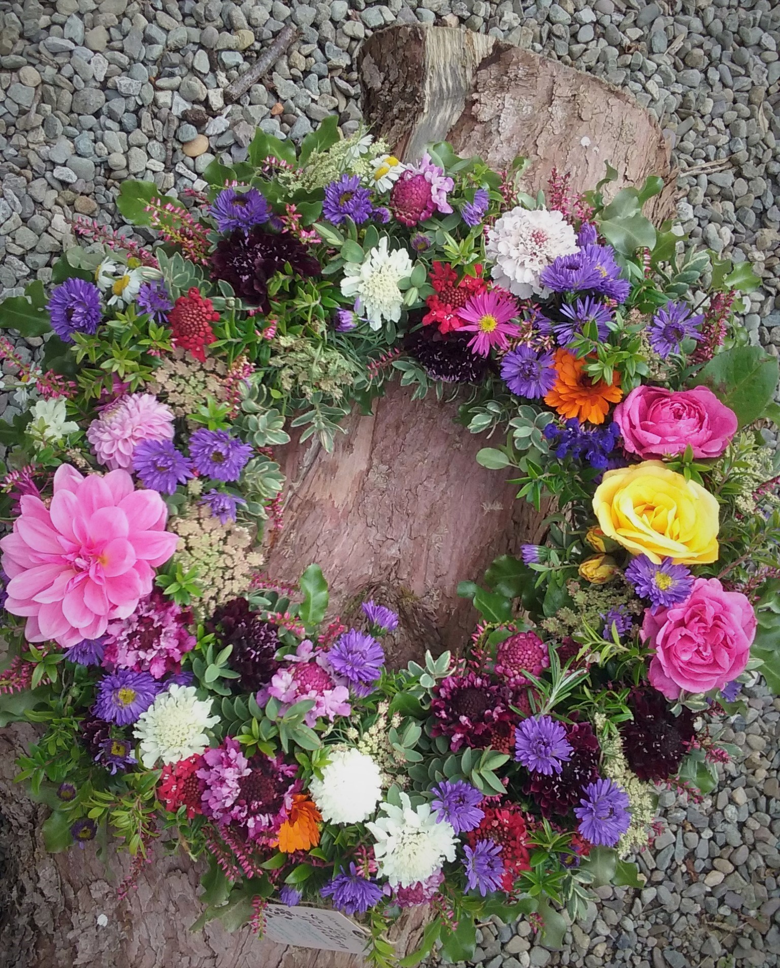 Funeral remembrance flowers the secret garden cork kerry natural summer wreath izmirmasajfo