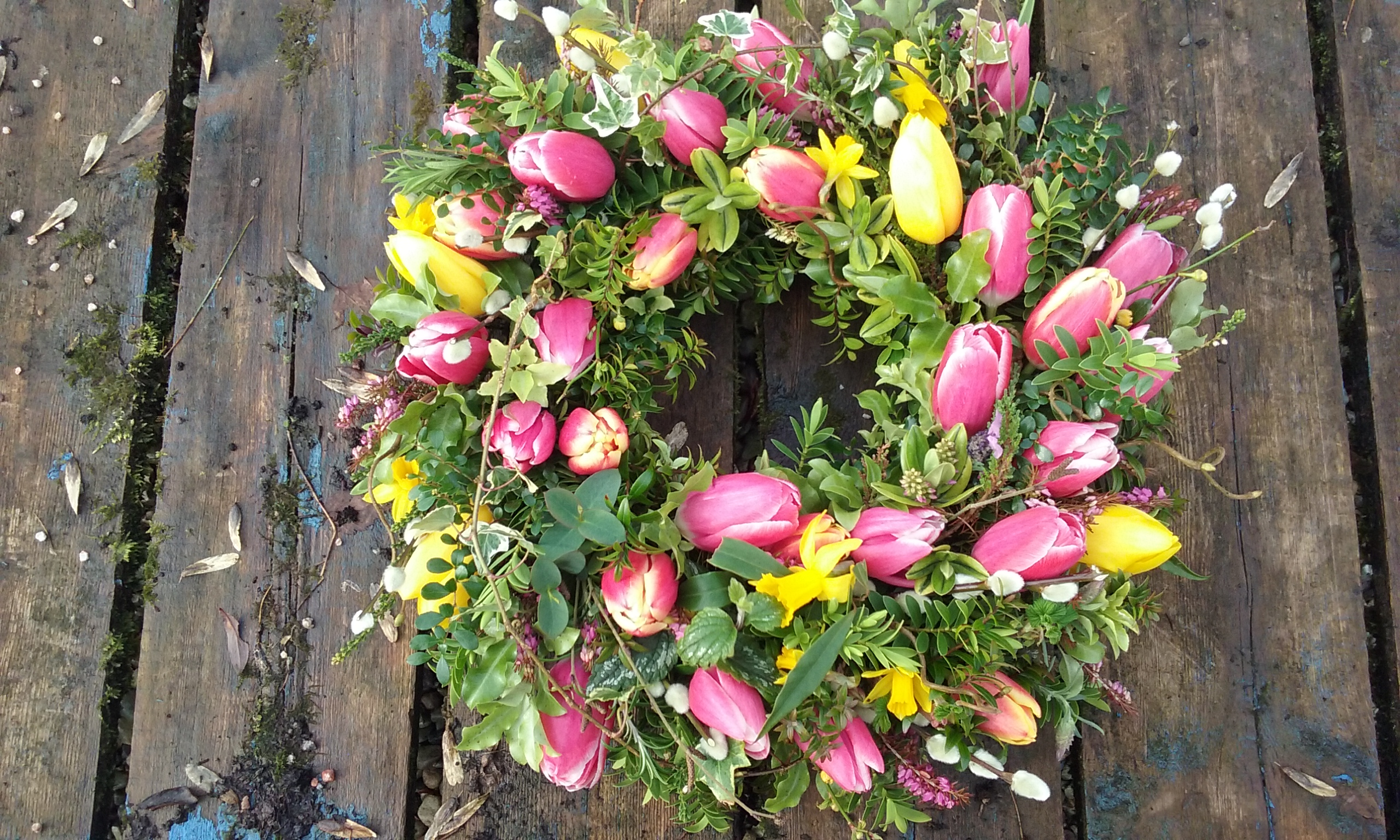 Funeral remembrance flowers the secret garden cork kerry natural spring wreath izmirmasajfo