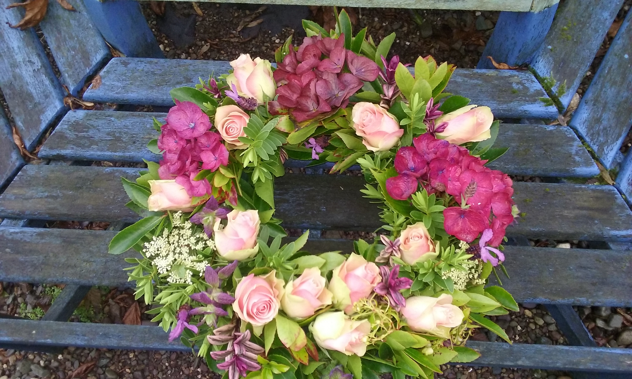 Funeral remembrance flowers the secret garden cork kerry pink hydrangea rose izmirmasajfo